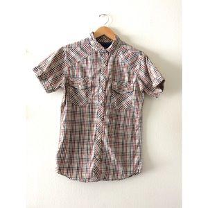 Men's checkered plaid shirt